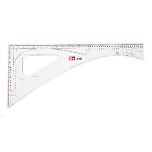 Prym 611499 Acrylic Dressmaker Ruler 601/2 x 241/2 cm Mark Uniform/Recurring Spacing