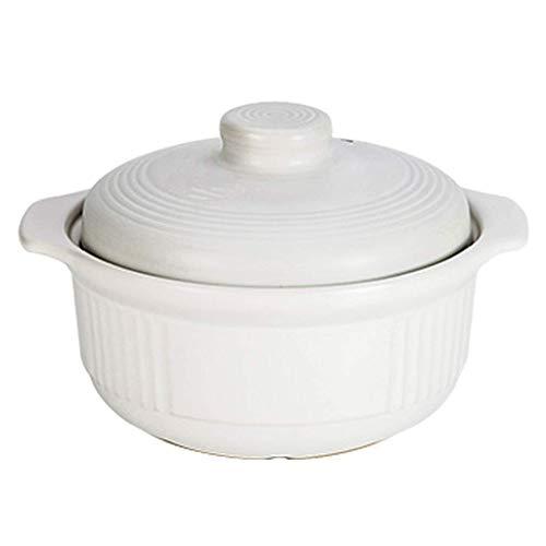 HIZLJJ Pot À Soupe en Céramique Non Statique |Cocotte Compatible avec l'induction avec Tasses et cuillères à mesurer gratuites | Vaisselle à ragoût Cocotte Grande capacité (Size : 3L)