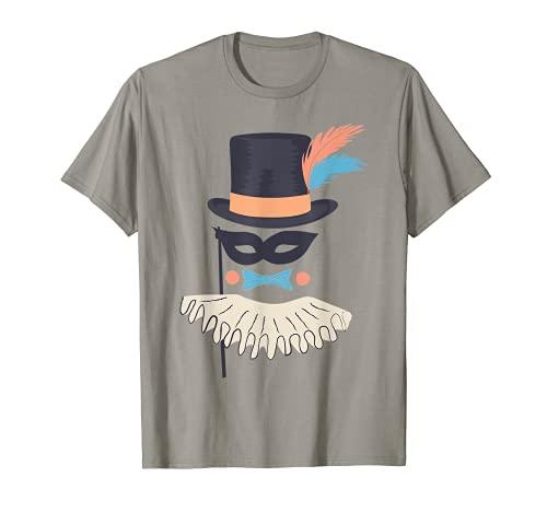 Espectáculo de circo Máscara de carnaval Sombrero de copa Camiseta