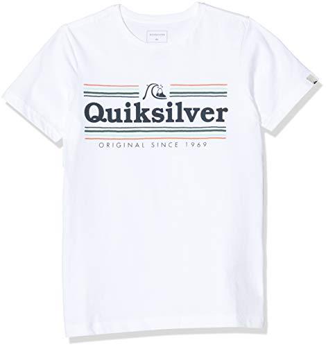 Quiksilver Get Buzzy-T-Shirt pour Garçon 8-16 Ans, White, FR : S (Taille Fabricant : S/10)