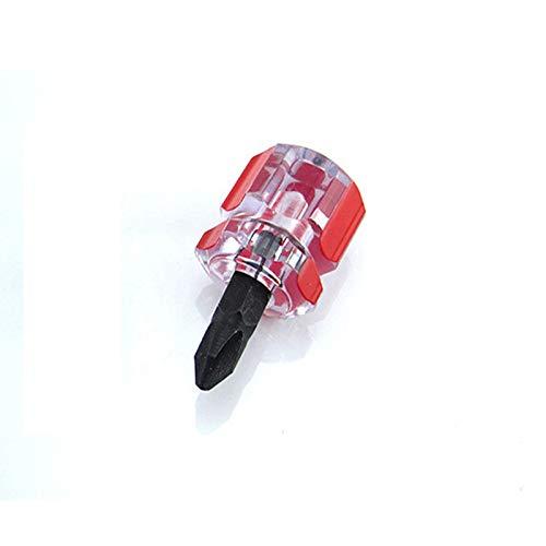 Liyes - Juego de Mini Destornilladores de Cabeza Plana y Puntas de Destornillador Phillips Antideslizantes, duraderos y útiles, Herramientas de Guardabarros Corto y pequeño