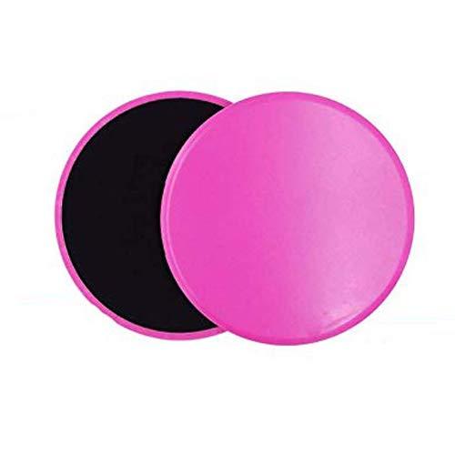 COVVY Core Sliders Discos de Deslizamiento de Ejercicio de Doble Lado Uso en Pisos de Madera Dura de Alfombra para Ejercicios Abdominales y básicos, Equipo de Ejercicio de Gimnasio en casa (Pink)