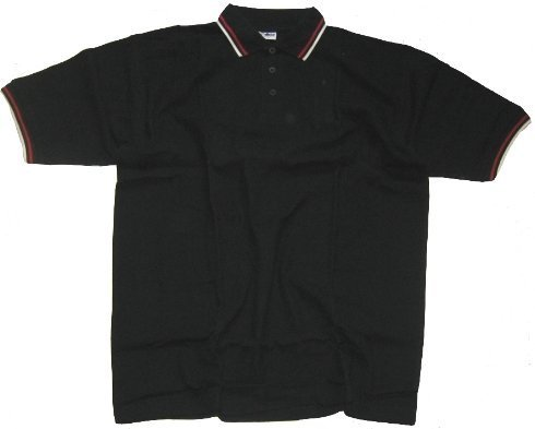 McAllister polo noir-blanc-rouge-taille xL