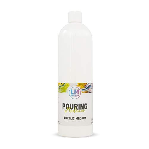 LM Pouring Medium (1000 ml) - Transparent - Gieß-Farbe, Pouring-Farbe, Pouring-Medium, Acrylic-Pouring, Puddle-Pouring, Dirty-Pouring, Flip Cup, Gieß-Medium, ähnlich Viva Decor