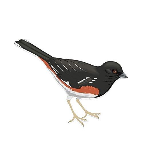 ZCZWQ 13.5 * 10.4cm Fashion Bird Sparrow Decorativo Car Coche Pegatina Vinilo Pegatina Applique Maleta Refrigerador Pegatina Portátil