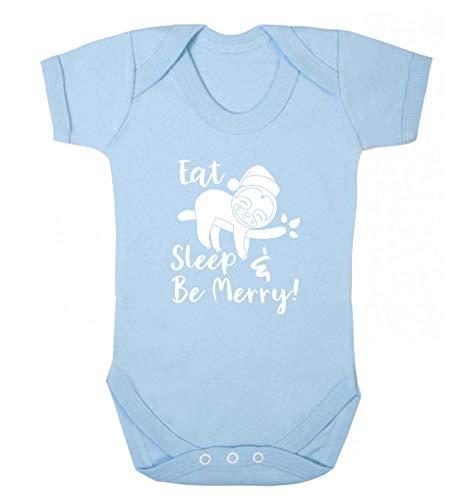 Flox Creative Baby Vest Eat Sleep Merry - Bleu - XS