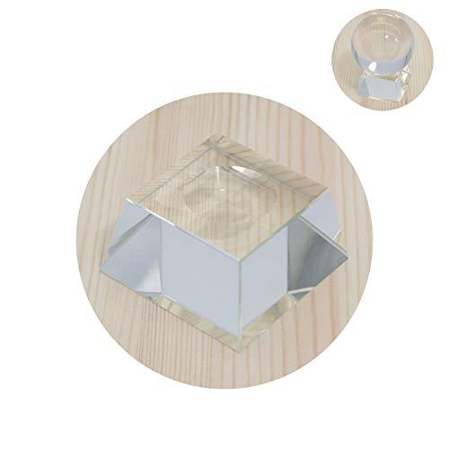 showll Crystal Ball Rack Clear Square Crystal Ball Rack Display Glasständer für Kristallkugeln, Glaskugeln, Fotokugeln (6.0 * 6.0 * 3.0cm)