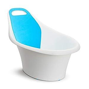 Munchkin Bañera Para Bebé Sit and Soak, Soporte Integrado y Respaldo de Espuma Almohadillado, 0-12 meses, color blanco