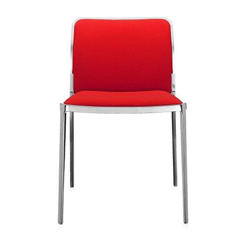 Kartell Audrey Soft stoel, plastic, aluminium glossy/rood, 51 x 80 x 52 cm