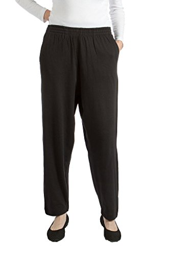 Pembrook Womens Jersey Knit Elastic Waist Pull On Pant -S- Black