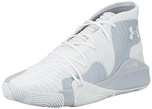 Under Armour Spawn Mid, Herren Basketballschuhe, Weiß (White 102), 47 EU (11.5 UK)