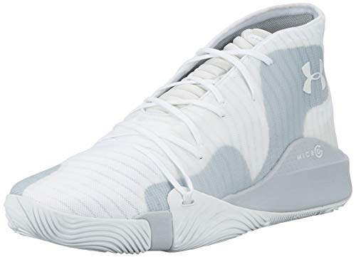 Under Armour UA Spawn Mid, Chaussures de Basketball Homme, Blanc (White 102), 45.5 EU