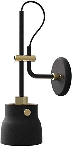 FZDLLFang Aplique de Pared Deco, Sala de LED Moderno Minimalista Pasillo de Estar de Noche Espejo Headlighta Hierro Forjado Cuello de Cisne
