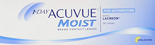 Acuvue 1-Day Acuvue Moist For Astigmatism Tageslinsen weich, 30 Stück/ BC 8.5 mm / DIA 14.5 mm/ CYL -2.25 / ACHSE 100 / -0.5 Dioptrien