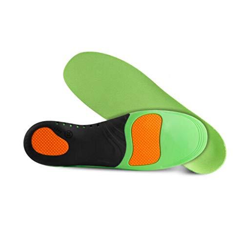 NWQEWDG Plantillas ortopédicas para Deportes Plantillas de trabajo Plantillas Deportes Plantillas de Gel Plantillas Deportivas contra sudor para Hombre y Mujer, color Verde, talla XL(47-49)