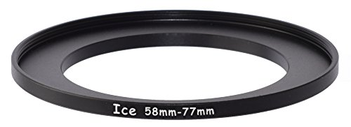 ICE 58mm to 77mm Step Up Ring Filter/Lens Adapter 58 Male 77 Female Stepping