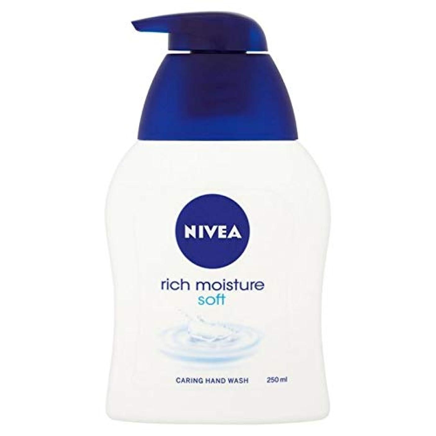退屈させる当社火薬[Nivea ] ニベア豊富な水分ソフト思いやり手洗いの250ミリリットル - Nivea Rich Moisture Soft Caring Hand Wash 250ml [並行輸入品]