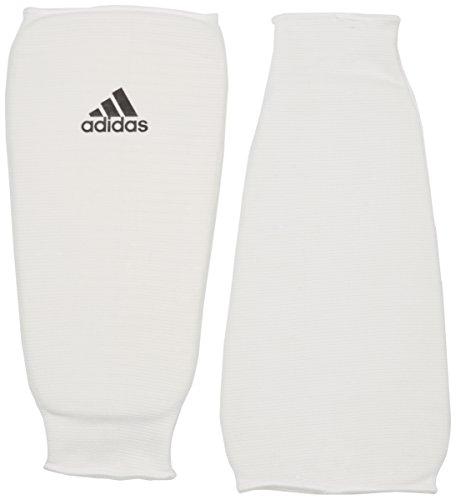 adidas Schienbeinschoner Kickboxen Shin Pad Schienbeinschutz, Weiß, L