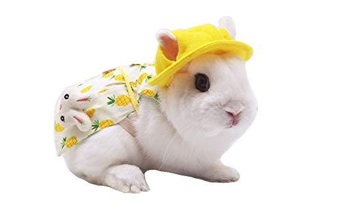 Kaninchen-Geschirr und Leine, verstellbar, für Spaziergänge, Jogginganzug für süßes Kaninchen, Meerschweinchen, Babyhase (himmelblau, klein)