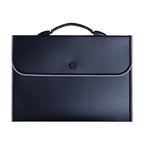 TOMOP - Cartella portadocumenti a fisarmonica, formato A4, con manico, 13 tasche per ufficio, scuola, affari, archiviazione