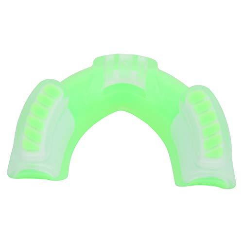 Deror Protector Dental para Adultos, Protector bucal Apto para Deportes de Boxeo Sanda con Caja de Almacenamiento(Verde)
