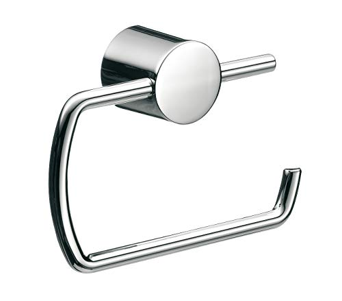 Emco Rondo 2 Toilettenpapierhalter, chrom, Klopapierhalter, ohne Deckel, Rollenhalter, Wandmontage - 450000101