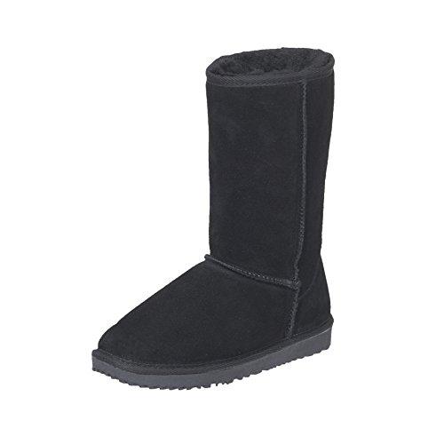Nebulus Leder-Boots Queen mit MERINOWOLLE-Futter, Damen, Lederstiefel, Stiefel, Cognac, Größe 39 (Q1911)