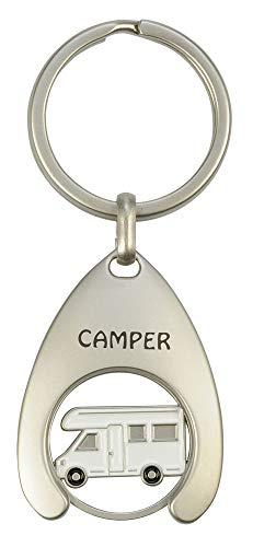 Schlüsselanhänger mit Einkaufswagenchip Camper
