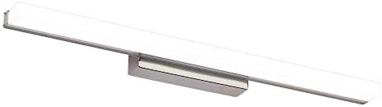 Spiegelfrontlampe Silber - Kosmetikspiegelleuchten, Wandleuchte aus Edelstahl und Acryl, moderne wasserdichte LED-Wandleuchte IP44 für Badezimmer, Schlafzimmer - Beleuchtung für Make-up, Zhne putzen