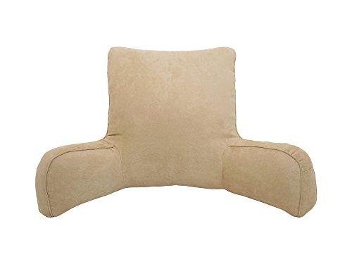 Arlee Suede Oversized Bedrest Lounger, Brush