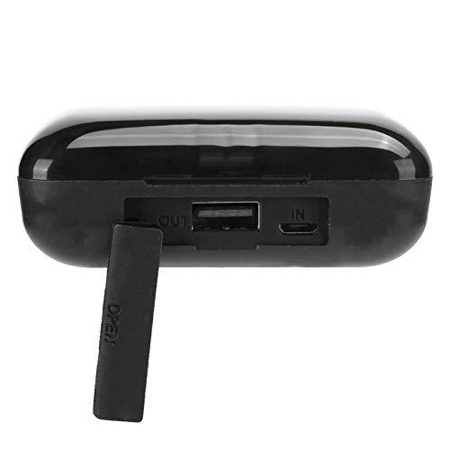 Pelnotac Auriculares de pantalla digital, F9‑10 con diseño de CD, Bluetooth 5.0, con reducción de ruido de auriculares inalámbricos