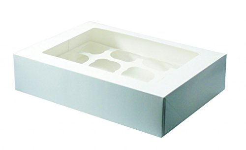 5 x12 hole white cupcake window box by The Baker Shop