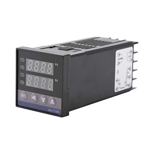 Oumefar Interruptor de termostato de Alarma Inteligente Industrial PID AC 110 V-240...