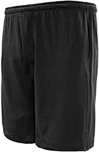 Big Sizes Cotton Jersey Shorts, Black Navy Grey 2X-10X, That fit and Last (8XB (70/72), Navy)