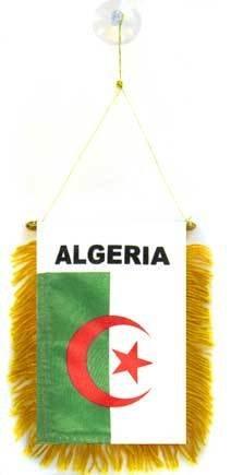 AZ FLAG Wimpel ALGERIEN 15x10cm - ALGERISCHE Mini Flagge 10 x 15 cm - Auto Pennant spezielle Auto