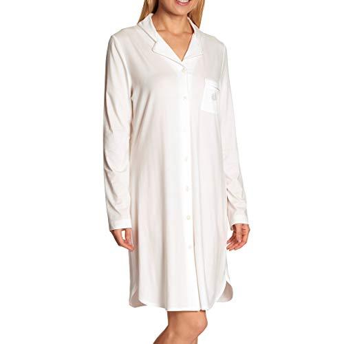 Feraud - Damen Nachthemd mit durchgehenden Knopfleiste - Langarm - 90 cm lang (Champagner, 48)