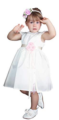 HOBEA-Germany Taufkleid Blumenmädchen Baby Festkleid, Modell: Victoria, Größe Kleider:98