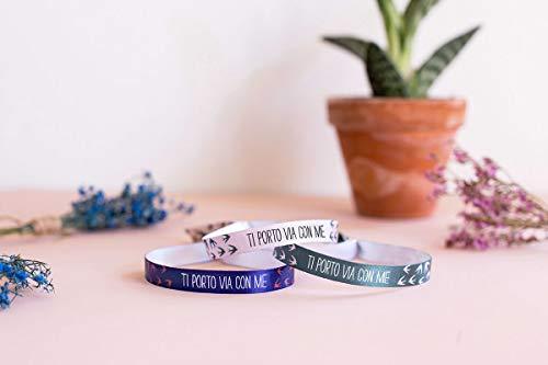 """UO\""""Ti Porto Via mit Me Armband, Polyester, Blau, No"""