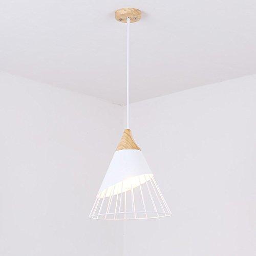 HTDZDX Simple lámpara de Hierro Blanco, diámetro de la Sala de Estar del Restaurante 30cm