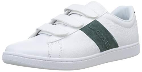 Lacoste Herren Carnaby Evo Strap 319 1 SMA Sneaker, Weiß (Wht/Dk Grn 1r5), 45 EU