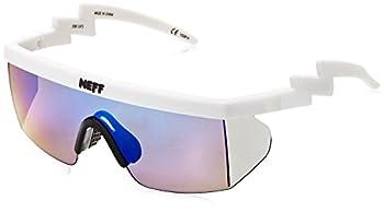 neff Brodie Shades Rimless Sunglasses White Rubber 6 mm