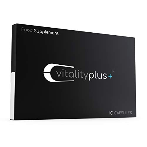 Vitality Plus - Natual Food Supplement for Fast Acting Effect (10 Capsules) - Ginseng & L Arginine Complex