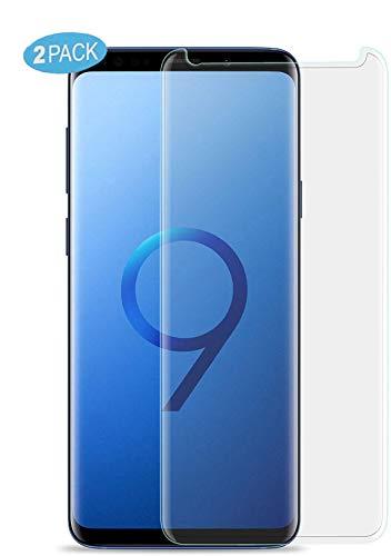 VAPIAO 2 Stück [2er Pack] Panzerglasfolie Full Cover kompatibel mit Samsung Galaxy S9 Folie 2D 9h Curved Panzerglas in Transparent
