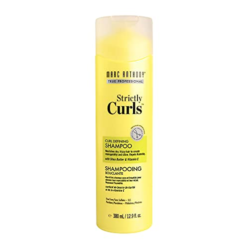 Marc Anthony Strictly Curls Shea Butter Curl Defining Shampoo - Vitamin E Oil & Aloe Vera Anti Frizz Sulfate Free Shampoo For Bounce- Curl Enhancing Color Safe Product For Dry Damaged Kinky Curly Hair