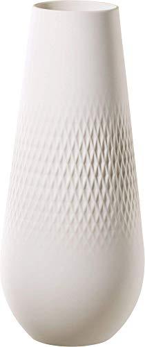 Villeroy & Boch Collier Blanc Vase Carré No. 3, 11,5x11,5x26 cm, Premium Porzellan, Weiß