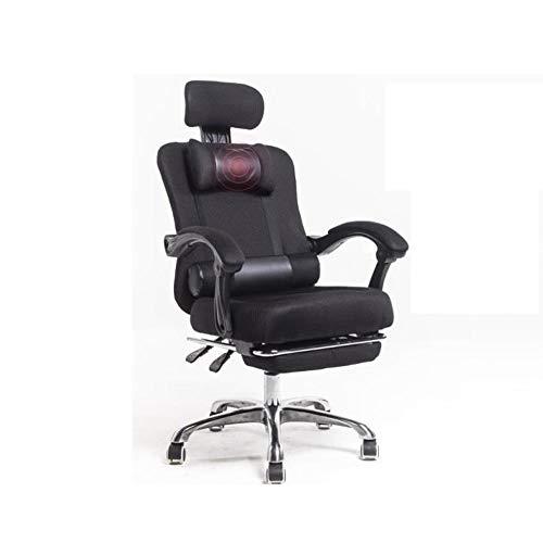 HOLPPO-Desk Casual Silla de Respaldo Alto Silla del Acoplamiento giratoria de Oficina de Malla Transpirable Multifuncional reposacabezas Almohada Doble y Confortables sillas reclinables Teniendo Peso