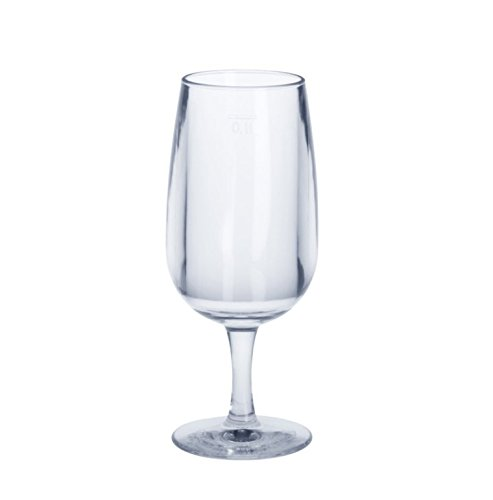 Set van 6 wijnglas 0,1 l SAN glashelder - kunststof