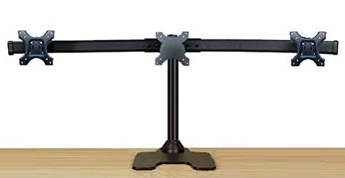 EZM Deluxe Triple Monitor Mount Stand Free Standing with Grommet Mount Option Supports up to 3 28' (002-0020)