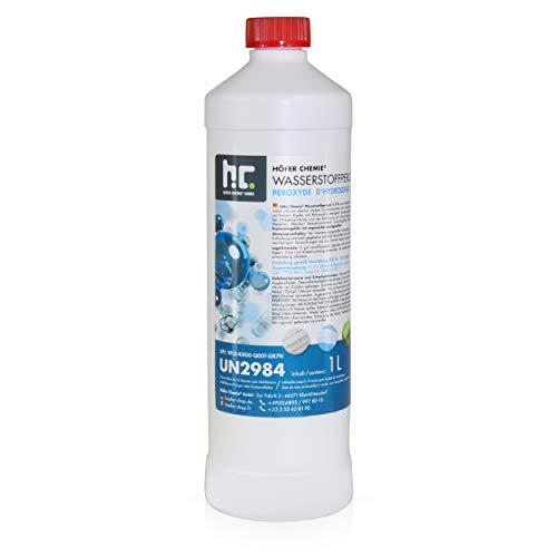 Höfer Chemie 6 x 1 L Wasserstoffperoxid 11,9% techn. Qualität - in handlichen 1 L Flaschen