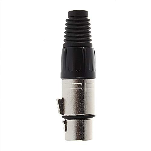 DGdolph XLR Macho Tipo 3-Pin Cable de Audio Conector Soldadura Mic Micrófono Adaptador Negro Hembra